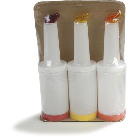 PS601N-800 - Stor N' Pour® Quart Complete (Container/Lid/Neck/Spout)  - Cash & Carry (3/st) - Clear