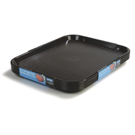 "CT1418-8103 - Cafe® Standard Tray 14"" x 18"" - Cash & Carry (6/pk) - Black"