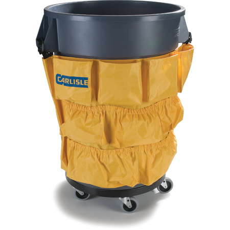 3691704 - Bronco™ Round Waste Container Trash Can Tool Caddy Bag 32 and 44 Gallon - Yellow