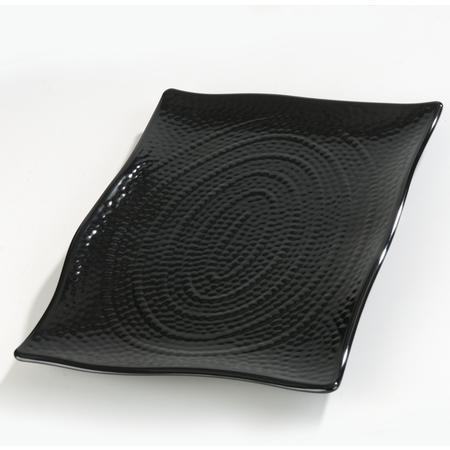 """4452203 - Terra™ Rectangular Textured Platter 11"""" x 15.75"""" x 1.5"""" - Black"""