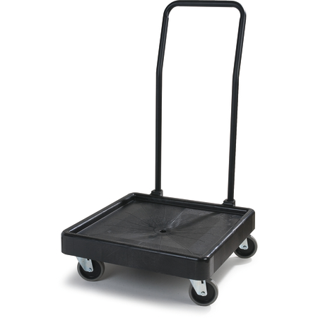 "C2236H03 - E-Z Glide™ Warewashing Rack Dolly with Handle 22.5"" x 22.5"" x 39.5"" - Black"