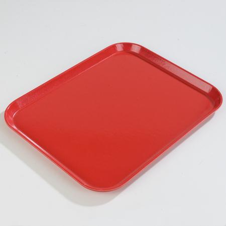 """1814FG017 - Glasteel™ Fiberglass Tray 18"""" x 14"""" - Red"""