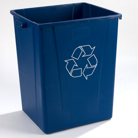 343950REC14 - Centurian™ Square RECYCLE Waste Container 50 Gallon - Blue