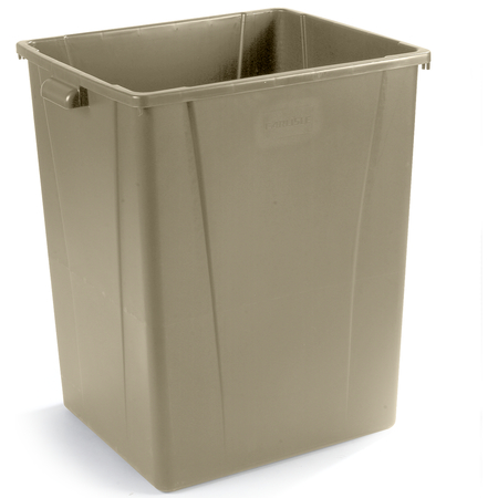 34405606 - Square Waste Container Trash Can 56 Gallon - Beige