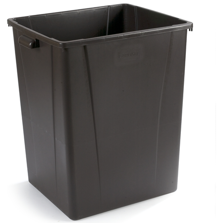 34405669 - Square Waste Container Trash Can 56 Gallon - Brown
