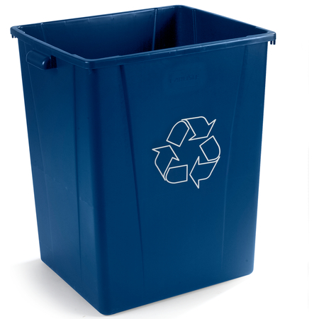 344056REC14 - Square RECYCLE Waste Container 56 Gallon - Blue