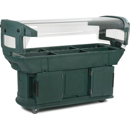771108 - Maximizer™ Food Bar 6' x 2' x 4.5' - Forest Green