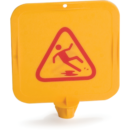 """3694704 - Caution Cones And Barriers Caution Cone Top Card 13.5"""" X 13.5"""" - Yellow"""