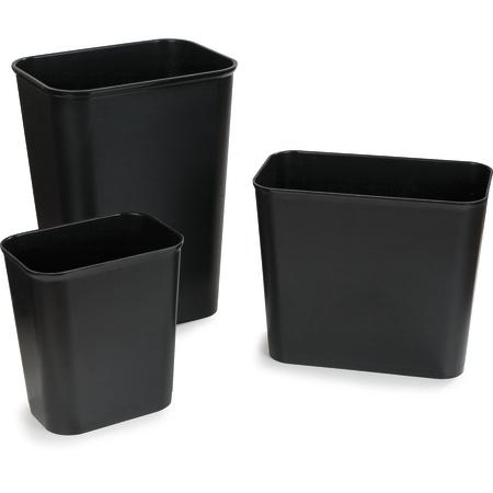 34292703 - Rectangle Fire Resistant Wastebasket Trash Can 27 Quart - Black