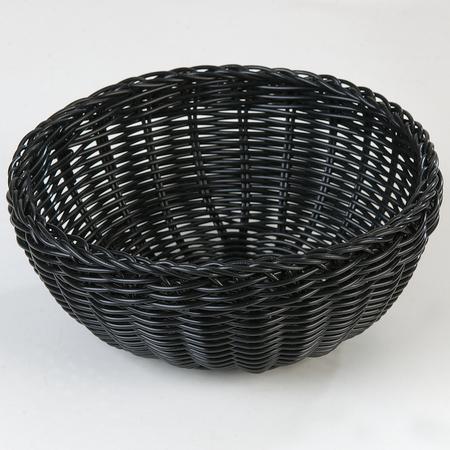 """655303 - Woven Baskets Round Basket 9"""" - Black"""