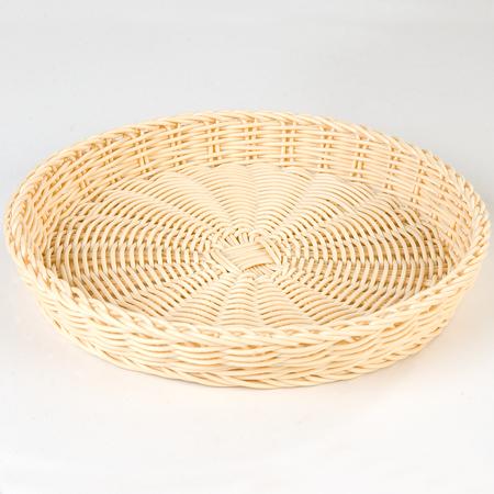 "655406 - Woven Baskets Medium Round Basket 11"" - Oatmeal"