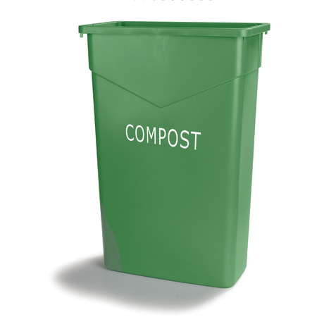 342023CMP09 - TrimLine™ Rectangle COMPOST Waste Container 23 Gallon - Green