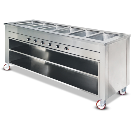 "DXDHF3SL - Dinexpress® Slim Line Hot Food 3 Well Counter 77"" L x 19"" D - Stainless Steel"