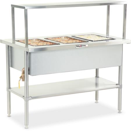 "DXDVLHF2 - Valuexpress Hot Food Counter - 2 Well 35""L  x 30""D - Stainless Steel"