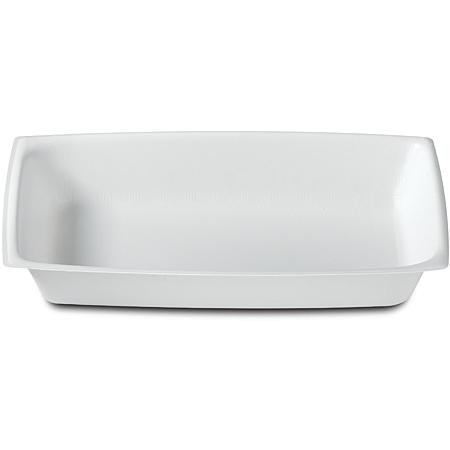 DXHH8 - Rectangular Entree (one Compartment) 12 oz. (1000/cs) - White