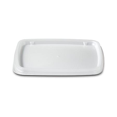 DXTT30 - Rectangular soup bowl lid- fits DXTT20 - White