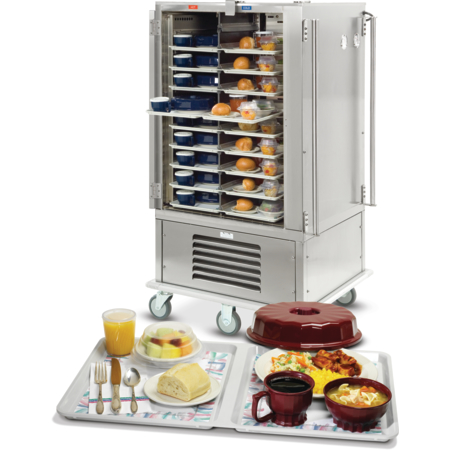 DXMOC10 - Meals On Command™ Cart Hot/Cold Tray Delivery System Holds 10 Divided Trays - Stainless Steel