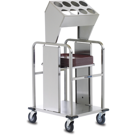 "DXIDTS2S1520 - Tray & Silverwear, 16 Cylinder Double Stack, Shelf Style 44.75""L x 28.75""D - Stainless Steel"