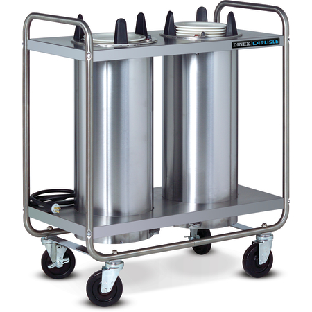 "DXIDP2O1012 - Plate Dispensers Open Style-Unheated- 2 Silo Fits 10-1/8 Plate 35.50""L x 17.75""D - Stainless Steel"