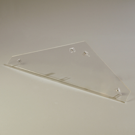 905207 - Double End Panel (encloses side on Double-Sided Sneeze Guard) - Clear