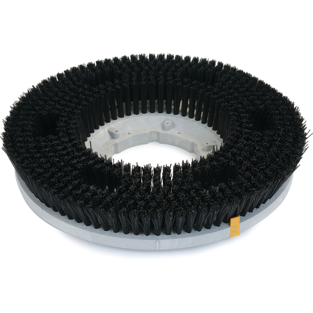 "361800P28-5N - Colortech™ Poly .028 Stiff Scrubbing Brush 18"" - Black"