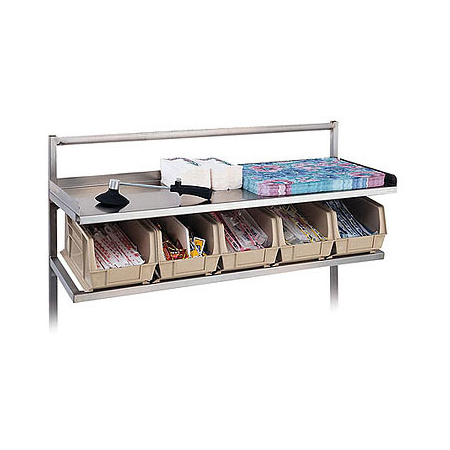 "DXISSS60 - Starter Station (Straddle Style) 7 Bins 60"" in - Stainless Steel"