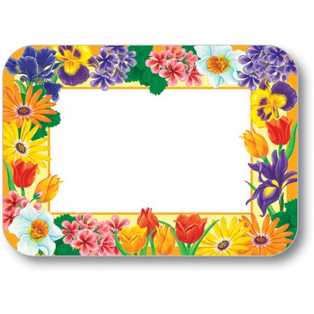 """DXHS180D001 - Garden Bloom Design Placemat w/ Straight Edge/Round Corner 11"""" x 15"""""""