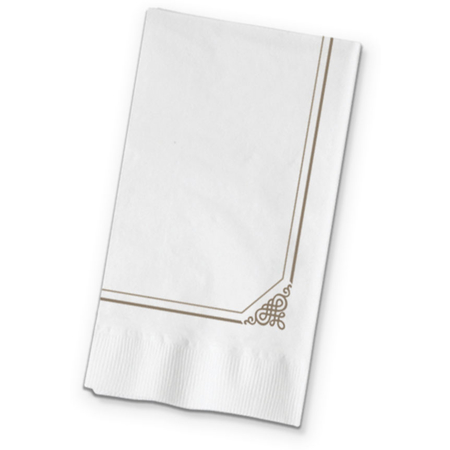 "DX632029 - Marbled Elegance Pattern Recycled Dinner Napkins 15"" x 17"" (1000/cs)"