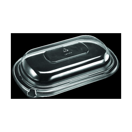 DXL800PDCLR - Dome Lid for Microwaveable Medium Entrees (250cs/cs) - Clear