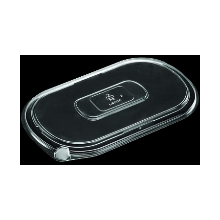 DXL800PCLR - Flat Lid for Microwaveable Medium Entrees (250cs/cs) - Clear