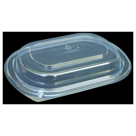 DXL4000PDCLR - Dome Lid for Microwaveable Small Entrée Platters (250cs/cs) - Clear