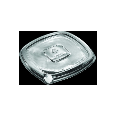 DXL500PCLR - Flat Lid for Square Side Dish (250cs/cs) - Clear