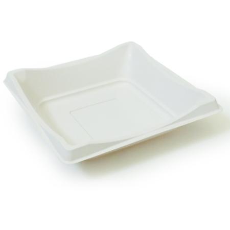 DXMW5104PWHT - Square Sandwich/Dessert Container - White (500cs/cs) - White