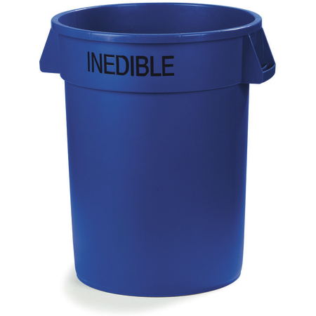 341032INE14 - Bronco™ Round INEDIBLE Waste Container 32 Gallon - Blue