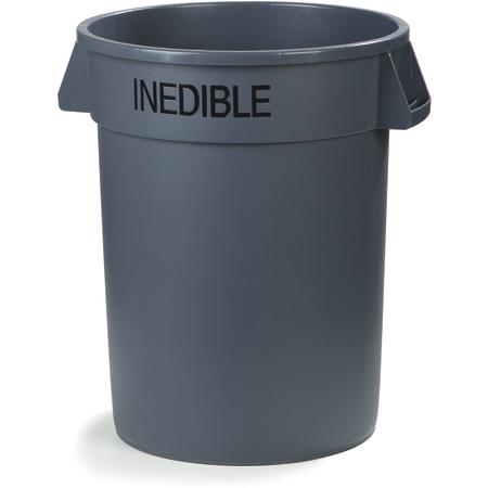 341032INEA23 - Bronco™ Round INEDIBLE Waste Container 32 Gallon - Gray