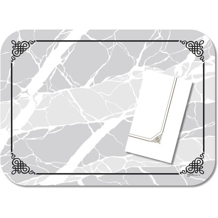 "DX5320MNS - Marble Elegance (non-skid) Straight Edge/Round Corener-fits 15""x20"" Tray 13-5/8""x18-3/4"" (1000/cs)"