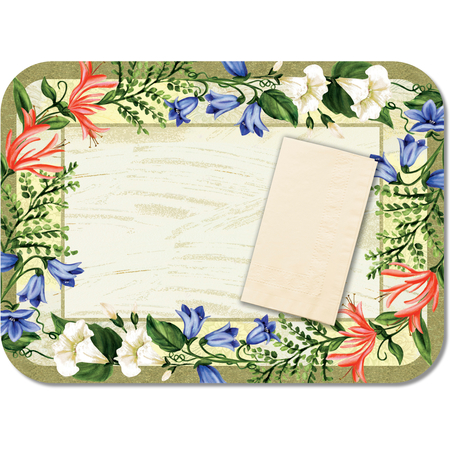 "DX5225MR - Sage Garden(recycled) Straight Edge/Round Corner-fits 15""x20"" Tray 13-5/8"" x 18-3/4"" (1000/cs)"