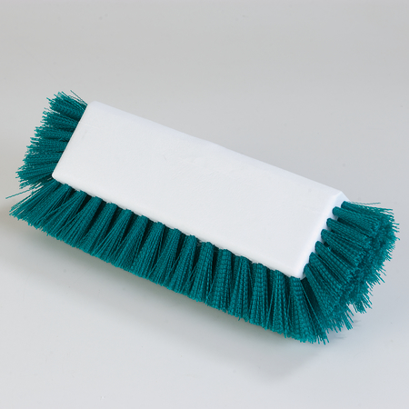 "4042209 - Dual Surface Polypropylene Floor Scrub With Side Bristles 12"" - Green"