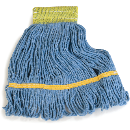 369442B14 - Flo-Pac® Small Looped-End Mop WithYellow Band - Blue