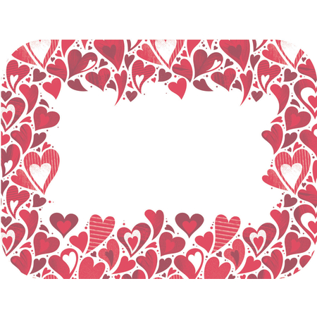 """DXHS002I001 - Valentine's Day Design Traycover Size: I w/ Straight Edge/Round Corner 12-1/2"""" x 16-1/2"""" (100/pk)"""