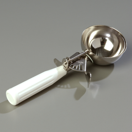 60300-6 - Stainless Steel Disher Scoop #6 Size 4.7 oz - White