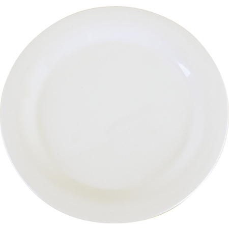 """3300202 - Sierrus™ Melamine Narrow Rim Dinner Plate 10.5"""" - White"""