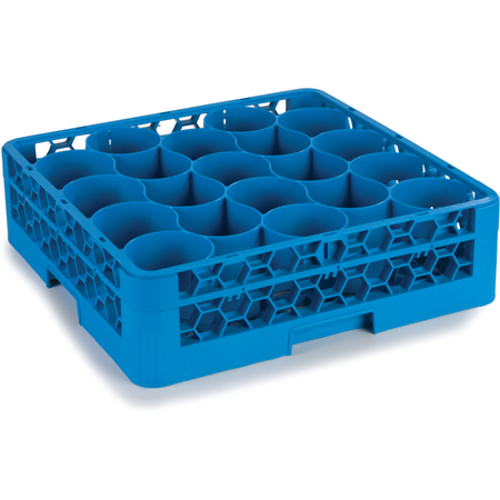 RW20-114 - OptiClean™ NeWave™ Glass Rack with Two Extenders 20 Compartment - Carlisle Blue