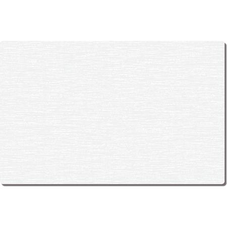 """DX5999G00102 - White Embossed Traycover Size: G w/ Straight Edge/Round Corner 11"""" x 20-1/2"""" (2000/cs) - White"""