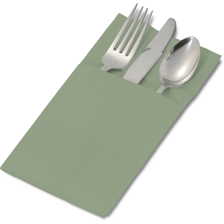 "DX6999PF0184 - Sage Color Pocketfold Napkin 17"" x 17 "" (1200cs/cs)"