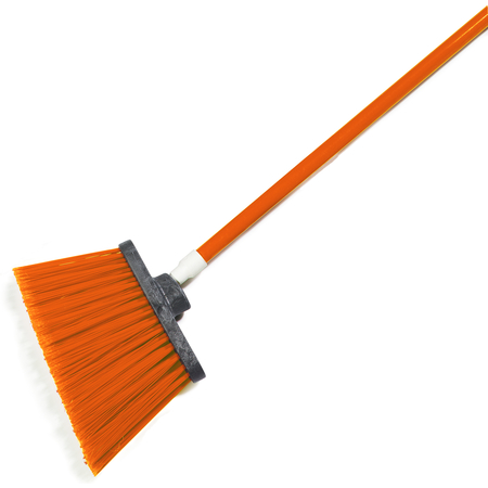 "4108224 - Sparta® Spectrum® Duo-Sweep® Angle Broom Flagged Bristle 56"" Long - Orange"