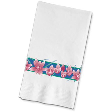 "DX6243202836 - Freesia Pattern Recycled Dinner Napkins 15"" x 17"" (1000/cs)"
