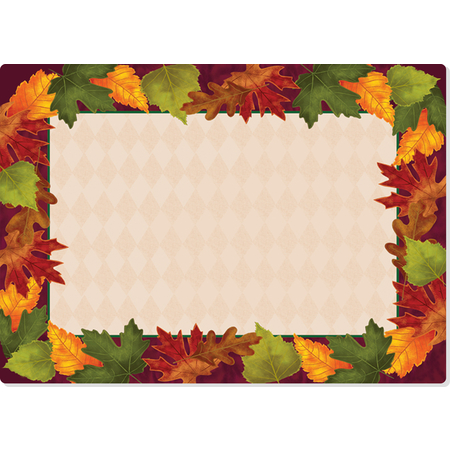 "DXHS344E001 - Autumn Colors Design Traycover Size: E w/ Straight Edge/Small Corner 11"" x 18"""