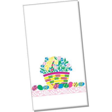 """DXHS104DN01 - Easter Basket Design Dinner Napkin 15"""" x 17"""" (100/pk)"""