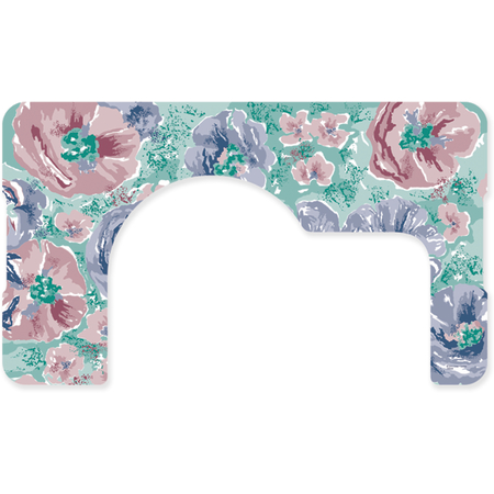 "DX5312X122733 - Whispering Floral Design Traycover Size: X w/ Straight Edge/Round Corner 12-1/8"" x 20-3/4"" (1000/cs)"